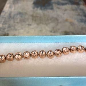 NEW Touchstone crystal -Rose gold silk bracelet